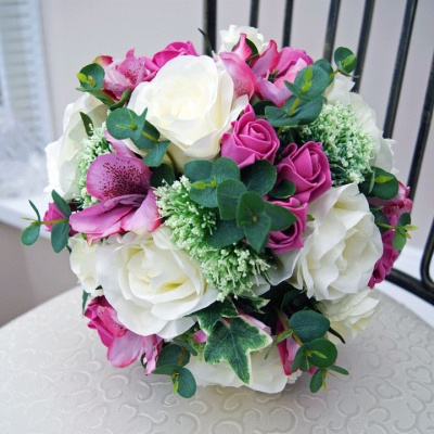Artificial Bouquets in pink and cream