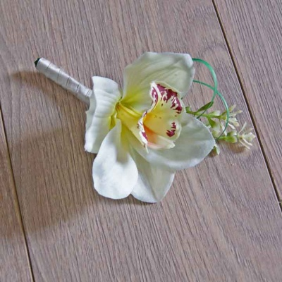 Grooms Orchid Buttonhole
