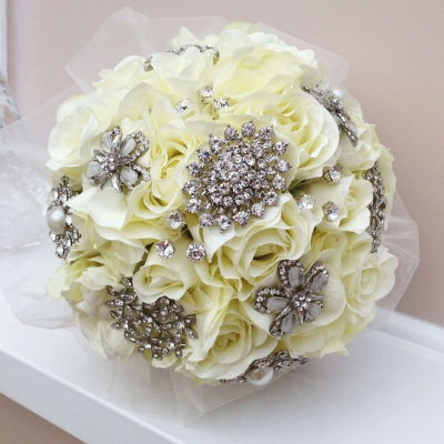 Jewelled Bouquet | Ivory