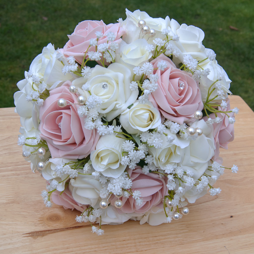 Blush rose artificial flowers bouquet rosie silk flowers blush rose artificial flowers bouquet izmirmasajfo