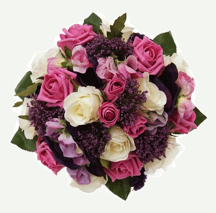 Foam Wedding Flowers In Pink