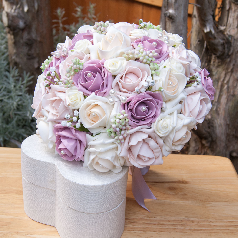 Vintage Rose Blush Collection   Handtied Bouquet