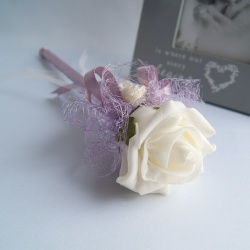 Artificial Ivory Foam Roses Fairy Wand