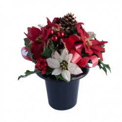 Artificial Flower Grave Pot