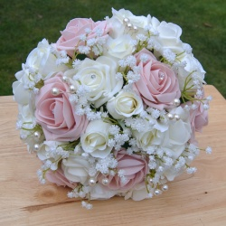 Blush Rose Gypsophila Collection - Brides Bouquet