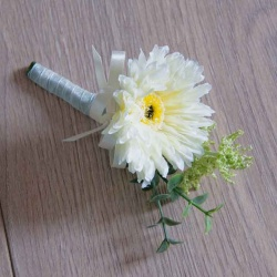 Gerbera Silk Flower Buttonholes