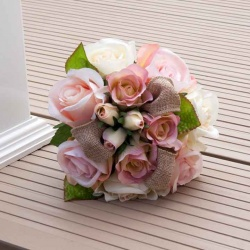 Handtied bridesmaid artificial flowers