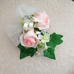 Wrist Corsage in Light Pink